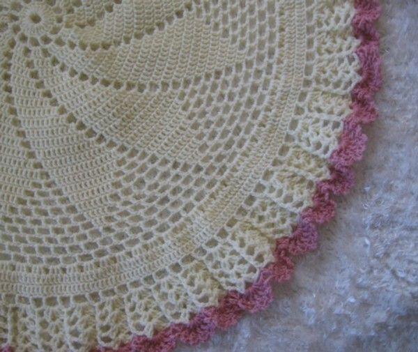 Crochet Pattern For Buttercup Circular Baby Afghan By Rebecca